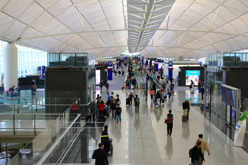 HKG Airport Terminal 1 is one of the largest terminals in the world.